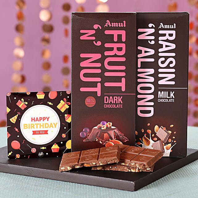 Online Nutty Amul Chocolates For Birthday
