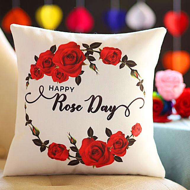 Beautiful Rose Day Wishes Cushion
