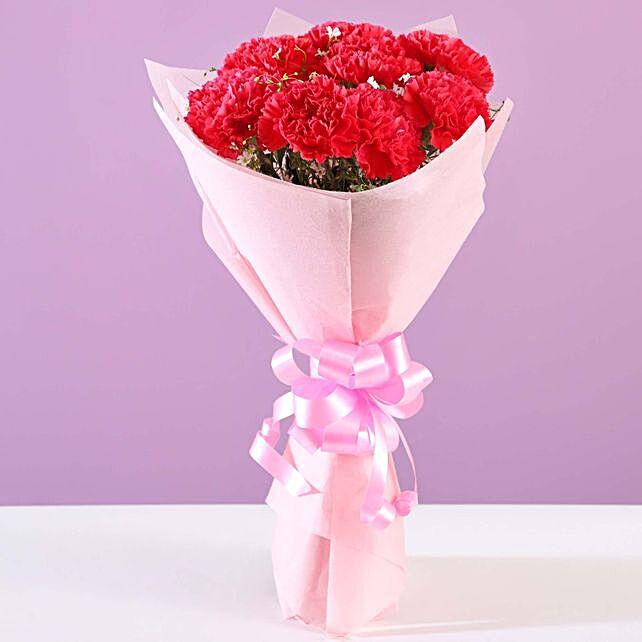Beautiful 16 Pink Carnations Bouquet