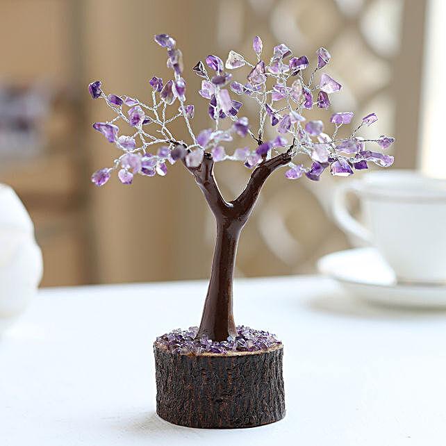 Amethyst Gemstone Wish Tree