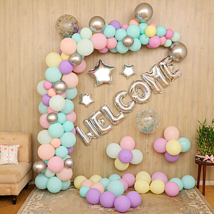 online grand welcome balloon decoration