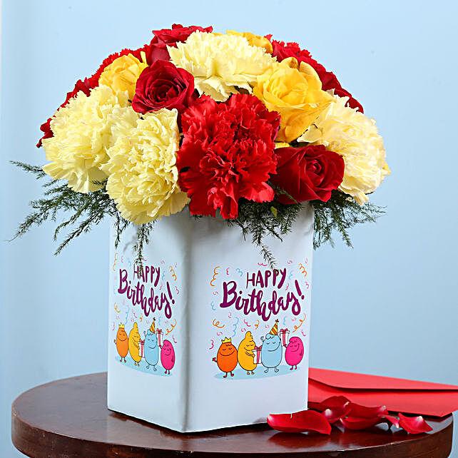 Birthday Flower Vase Surprise
