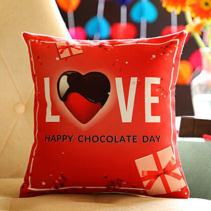 Chocolate Day Lovely Greetings Cushion