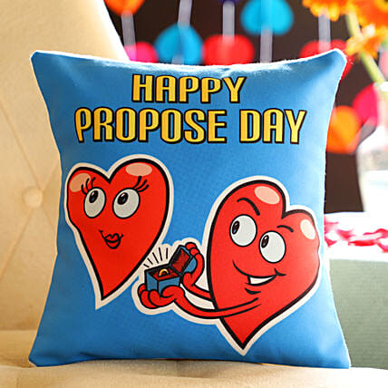 Propose Day Heart Cushion