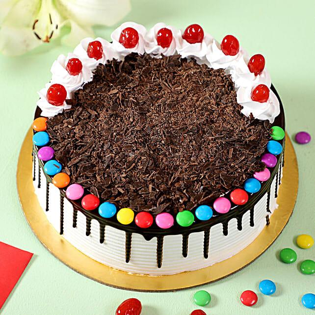 online black forest gems cake:Gems Cakes
