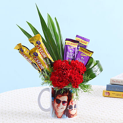 Online Carnations Flower And Chocolates
