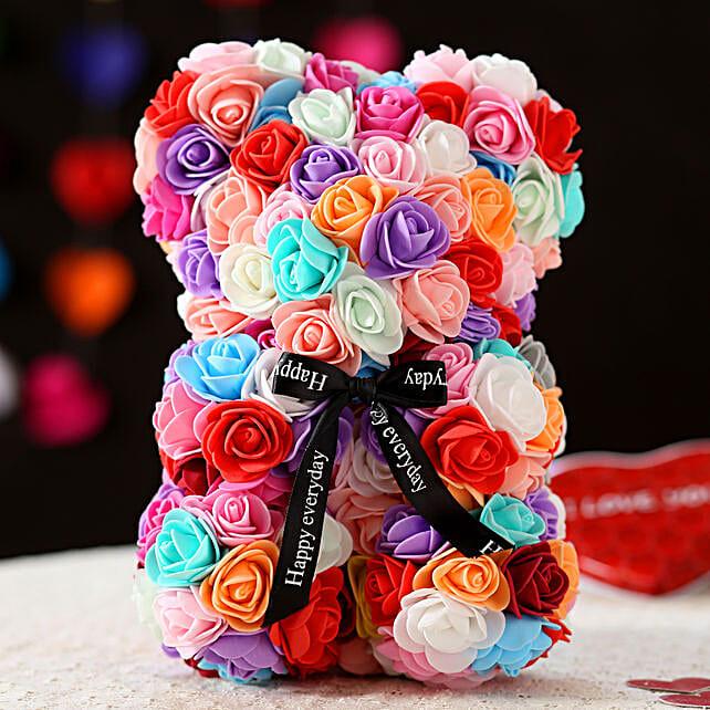 Foam Teddy Bear- Multicoloured:Send Soft toys to Bhopal