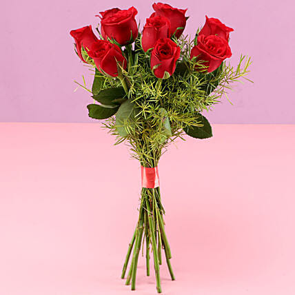 Romantic Red Roses without Vase