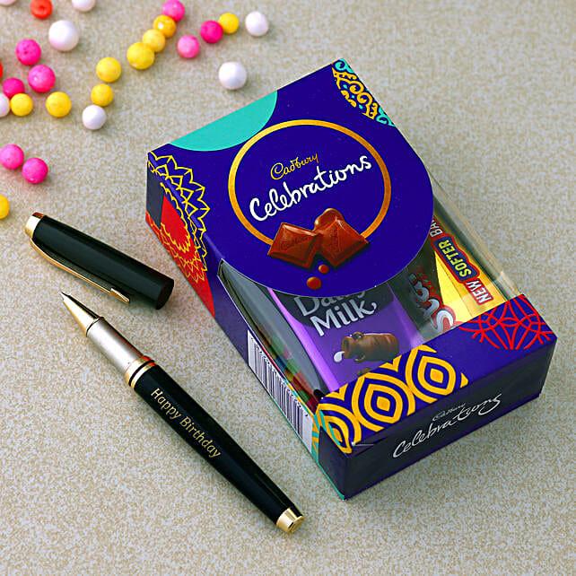 Online Roller Pen & Chocolate Combo