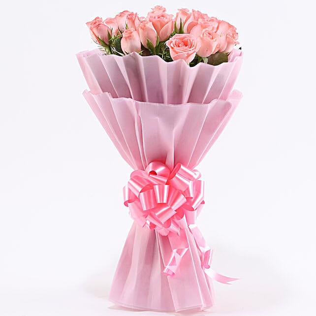 Splendid 20 Pink Roses Bouquet