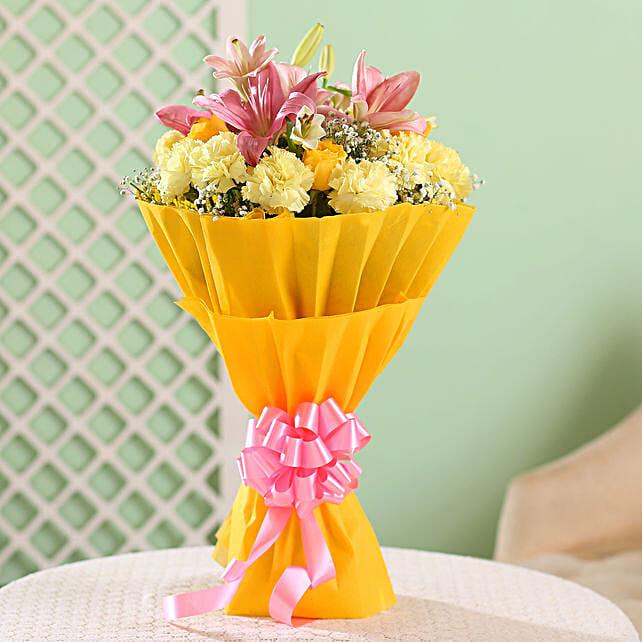 Beautiful Yellows & Pinks Bouquet