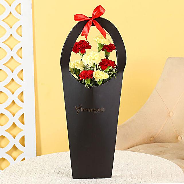 red n yellow carnation for boyfriend