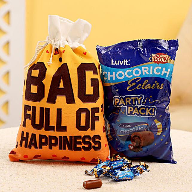 Chocolate Gunny Bag for Him:Luvit Chocolates