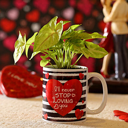 Syngonium Plant In Never Stop Loving You Mug