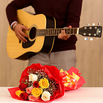 Musical Rose Bouquet Combo 20 to 30 Min