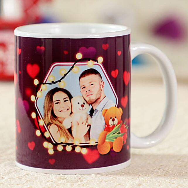Glittering White Personalised Mug