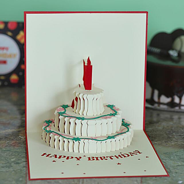 Wedding Cake Pop Up 3D Greeting Card:Buy Greeting Cards