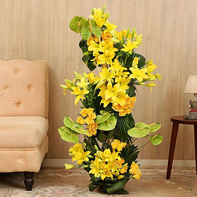 Online Sunshine Yellow Flower Arrangement