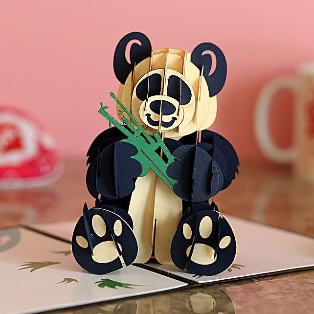 Online Panda Birthday 3D Card