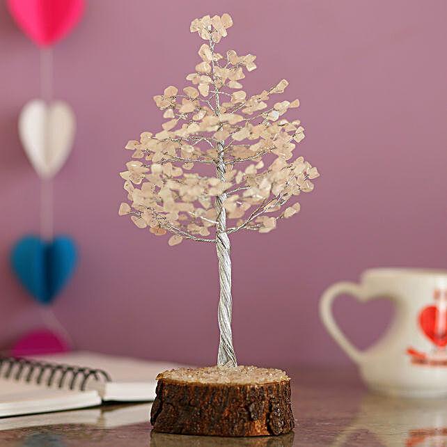 online decorative rose quartz wish tree for thank you:Wish Trees