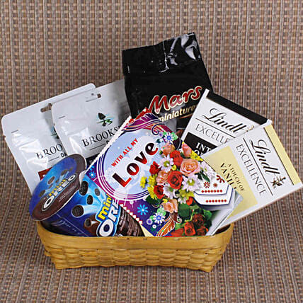 online chocolate basket combo for her