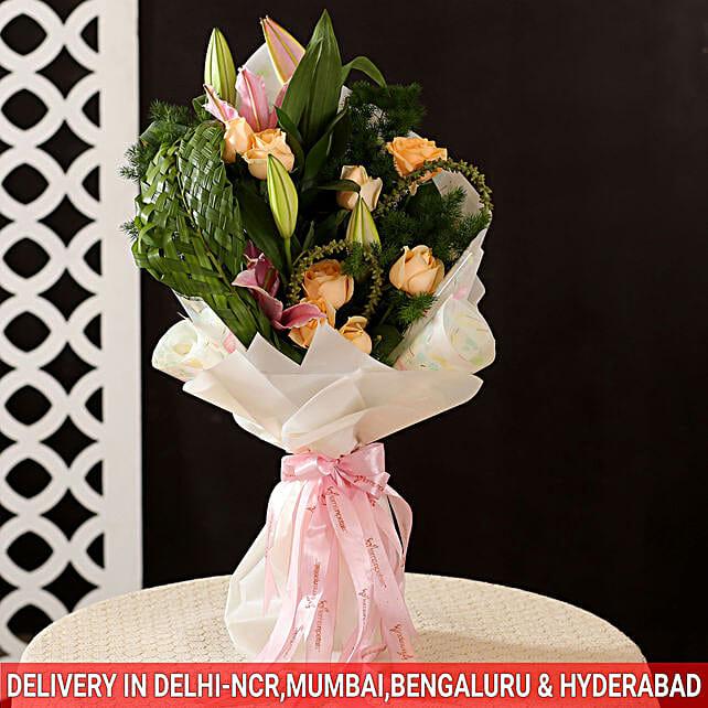 Roses Lilies Bouquet