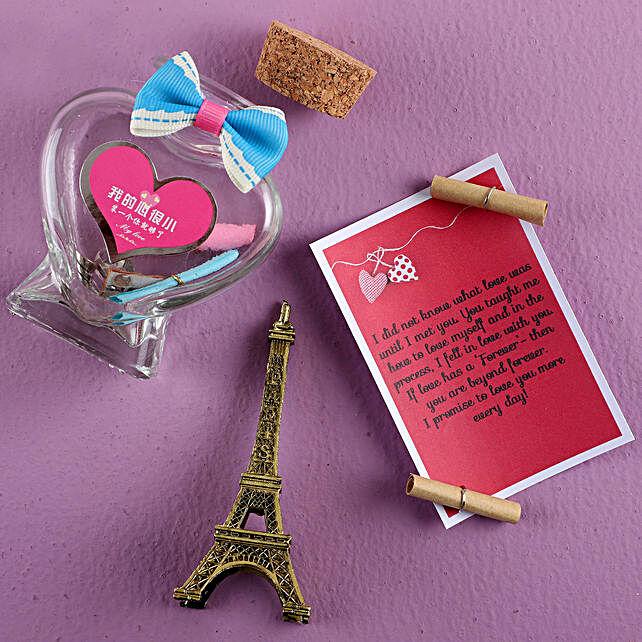 Heart Eiffel Love Bottle:Message Bottles