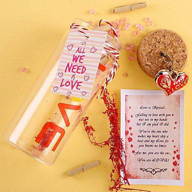 Need Love Hearty Message Bottle