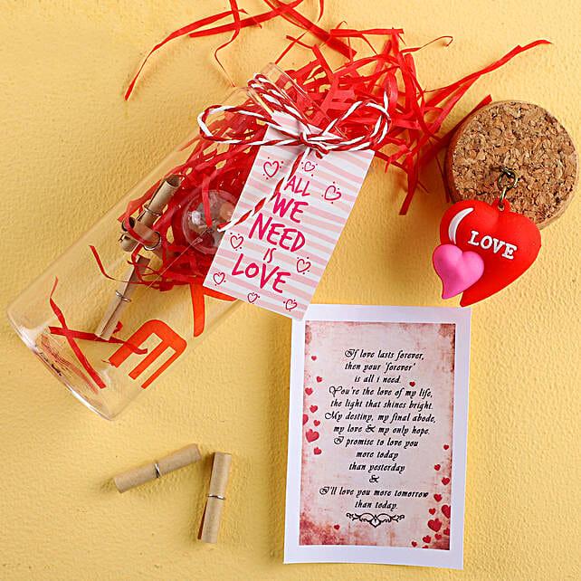 We Need Love Hearty Message Bottle:Message Bottles