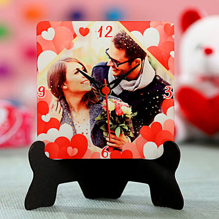 online photo printed table clock for her