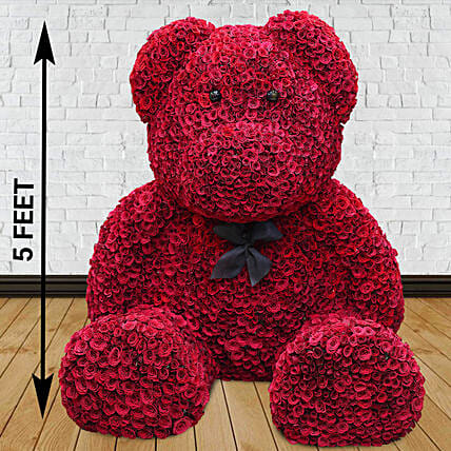 2500 Red Roses Grand Teddy Bear