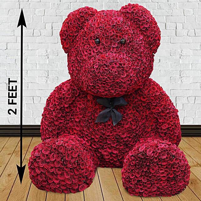1000 Red Roses Grand Teddy Bear