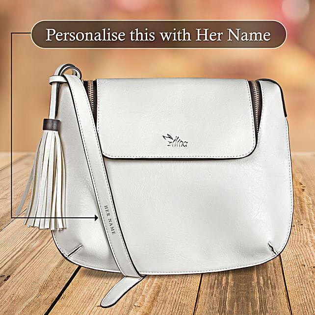 White Sling Bag for Girls