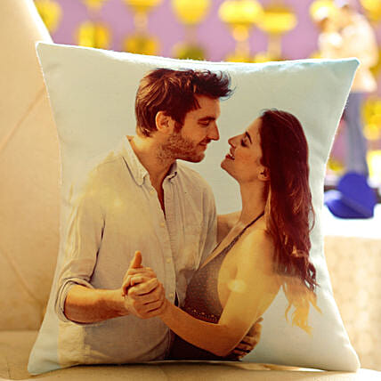 Photo Cushion-12x12 personalized photo cushion for your beloved gifts:Send Gifts to Kannur
