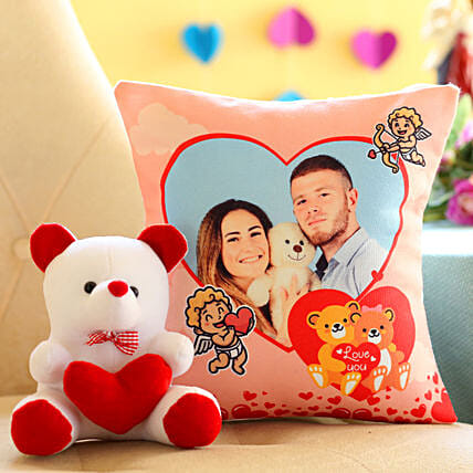 Soft Toy and Cushion For Teddy Day