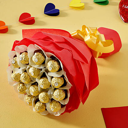 Rocher Chocolate Bouquet chocolates choclates gifts:Hug Day Gifts