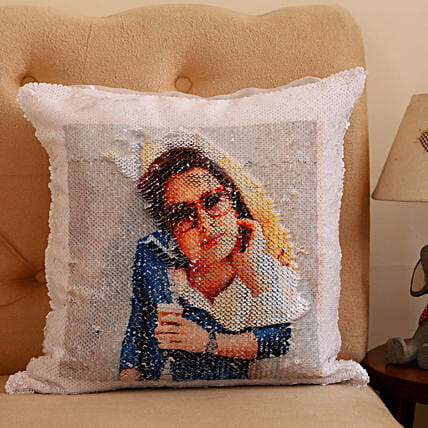 Personalised Double Sided Sequin Cushion :Personalised Cushions