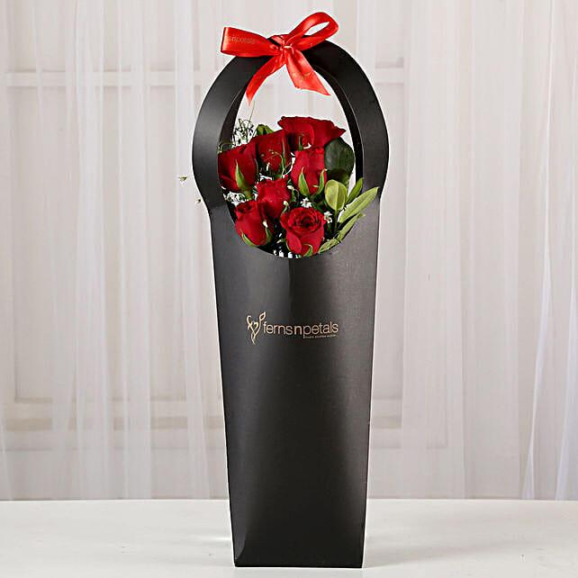 Ravishing 7 Red Rose in Black Sleeve