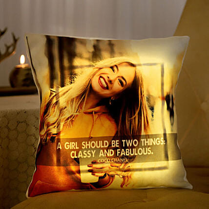 Personalised Classy LED Cushion For Her
