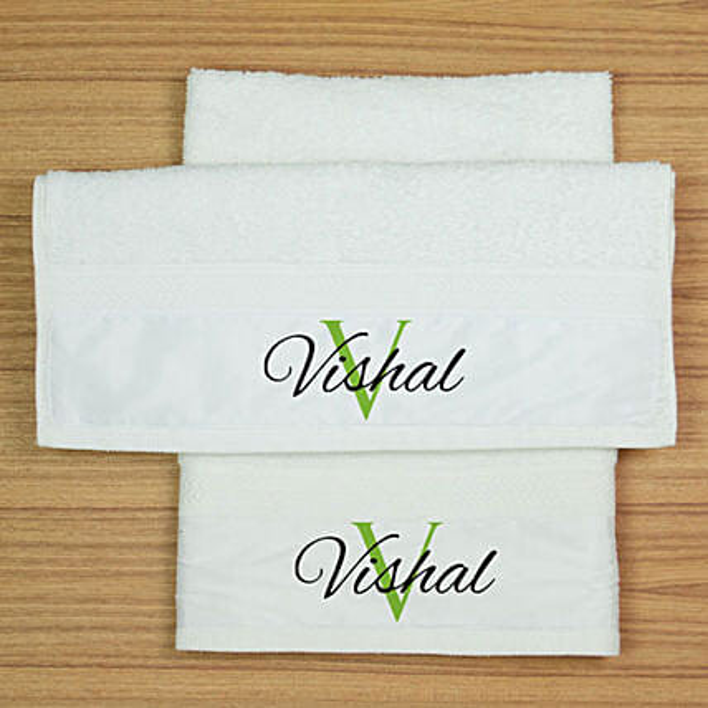 Name Personalised Hand Towel Set