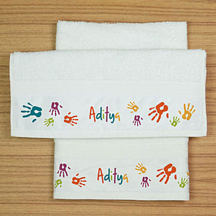 Personalised Hand Towels- Set of 2