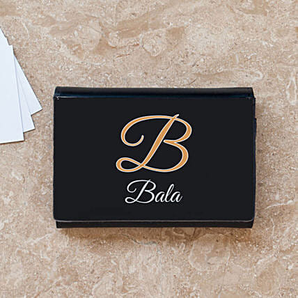 Personalised Initial Business Card Case