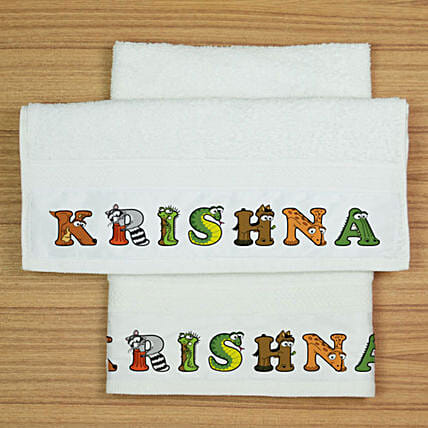 Two Personalised Cotton Towels