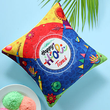 printed cushion for holi online