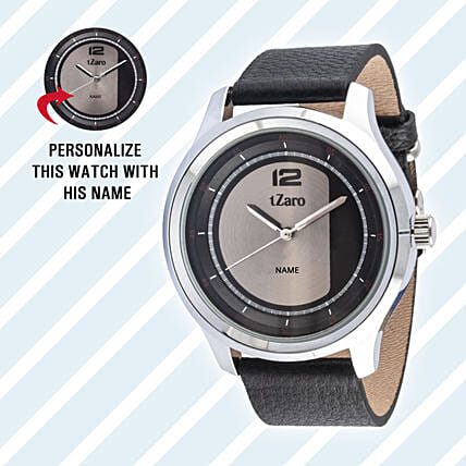 Personalised Brown Watch For Him