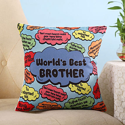 Online Colourful Best Brother Cushion
