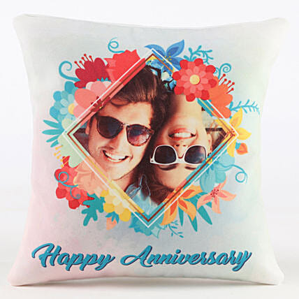 Floral Personalised Anniversary Cushion