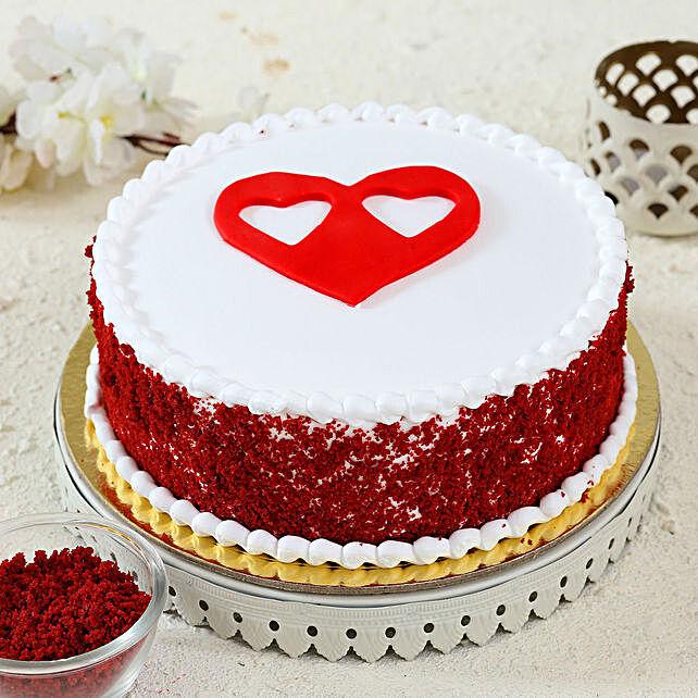 heart topper red velvet cake online