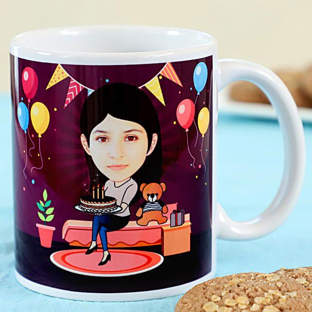 Customised Photo Mug Online For Birthday:Personalised Caricatures