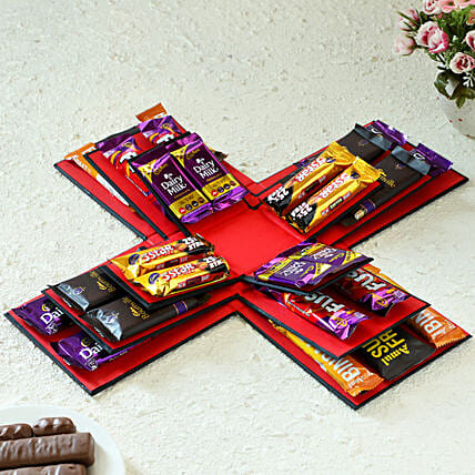 loaded of delicious chocolate explosion box online